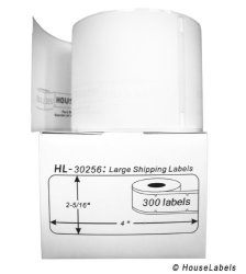 """HouseLabels 12 Rolls 300 Labels Per Roll Of Dymo-compatible 30256 Large Shipping Labels 2-5 16"""" X 4"""" -- Bpa Free"""