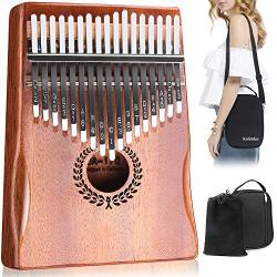 Kalimba 17 Keys Thumb Piano Easy To Learn Portable Musical Instrument Gifts For Kids Adult Beginners With Tuning Hammer And Study Instruction. Known As