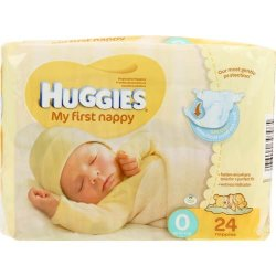 Huggies New Baby 24 Nappies Size 0 Prices Shop Deals Online Pricecheck