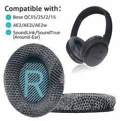 Krone Kalpasmos Replacement Ear Pads For Bose QC35 II QC25 QC2 QC15 AE2 AE2I AE2W Soundtrue & Soundlink Over-ear Ear Cushion Gre
