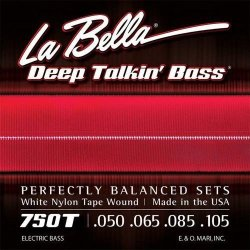 La Bella 750T White Nylon Tapewound Bass Strings - Light