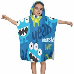 Cute Monster Animals World Baby Hooded Towel For Kids Ultra Soft 100% Cotton Toddler Hooded Bath Towel Keeps Infant Dry And Warm Excellent For