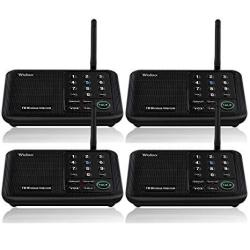 EWarehouse Wuloo Intercoms Wireless For Home 5280 Feet Range 10 Channel 3 Code Wireless Intercom System For Home House Business