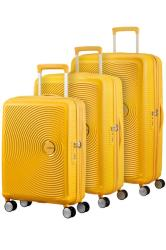 American Tourister Soundbox 3 Piece Set Golden Yellow