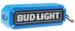 M&S Accessory Network Inc. Bud Light Rugged Bluetooth Speaker Wireless Shock Proof LED Flashlight Audio Sound Stereo Music Playe