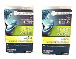 Mommy's Bliss Original Gripe Water For Baby's Tummy Trouble Relieves Occasional Infant Stomach Discomfort From Gas Colic Fussiness Teething 2 Fl Oz Pack Of 2