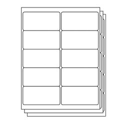Officesmartlabels Rectangular 4 X 2 Shipping mailing Labels For Laser & Inkjet Printers 4 X 2 Inch 10 Per Sheet White 5000 Labels 500 Sheets