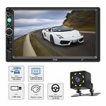 BESTREE Car Stereo With Bluetooth 7 Inch Touch Screen Double Din Car Stereo With Backup Camera And Steering Wheel Control Suppor