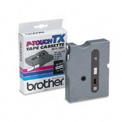 "Genuine BrOther 1 4"" 6MM Black On White Tx P-touch Tape For BrOther PT-8000 PT8000 Label Maker"