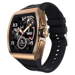 Sanda M1 1.4 Tft HD Screen Smart Watch IP68 Waterproof Support Call Reminder heart Rate Monitoring blood Pressure Monitoring sedentary Reminder Black Rose Gold