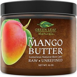 Mango Butter - Raw Unrefined - 100% Pure For Hair And Skin - Smooth And Creamy For Diy Recipes 16 Oz