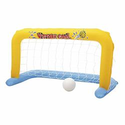 Inflatable Graysky Waterpolo Pool Games Goal Set Indoor & Outdoor Air Football Soccer Water Polo Goal For Sand Ground And Swimmi
