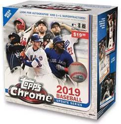 2019 Topps Chrome Update Mega Box - 7 Packs - Look For Pete Alonso Eloy Jimenez Keston Hiura Rookie Cards Rc