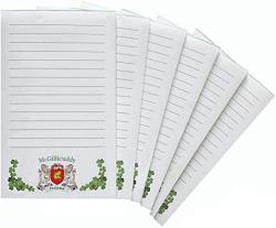 USA Mcgillicuddy Irish Coat Of Arms Notepads - Set Of 6