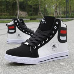 Hot New Product High Help Men Reversed Hair Joining Together Shoes Non-slip Breath... - White 9.5