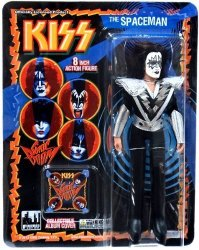 Figures Toy Company Kiss Retro 8 Inch Poseable Action Figure Series 3 Spaceman