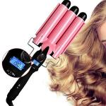 Hair Curler 3 Barrel Curling Hair Waver Iron Curling Wands Quick Heated Fast Heating Ceramic Hot Tools Professional Hairstyle Lo