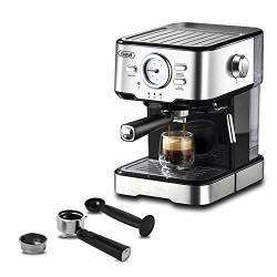 Espresso Machines 15 Bar Coffee Machine With Milk Frother Wand For Cappuccino Latte And Mocha 1.5L Large Removable Water Tank And Double Temperature