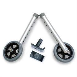 DELUXE Universal Walker Wheel Kit: 5 Inch Sport Wheels And Free Flexfit Ski Glides $8 Value