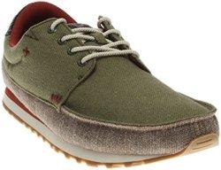 Sanuk Mens Beer Runner Sneaker Olive brown Size 12