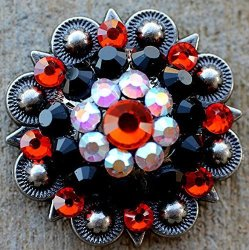 4 Conchos Rhinestone Horse Saddle Western  Red Berry CO517