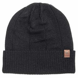 Timberland Men's Ribbed Watch Cap Beanie Black T100487C-001 One Size