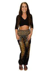 Mlide Casual Loose Hippy Yoga Trousers Baggy Boho Aladdin Pants Womens Elephant Yoga Harem Pants