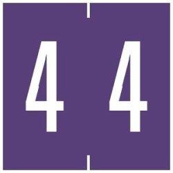 Tabbies Chart Label Tab 4 4 Purple 1-7 8 Inch - 500 Label Per Roll