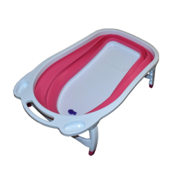 Baby Folding Bathtub Red
