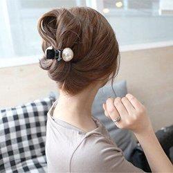 Shopantic Tm Hair Accessories For Woman Lovely Pearl Hair Claw Scrunchies Beautiful Crystal Hair Clip Headwear Hair Bands Girls Accessories