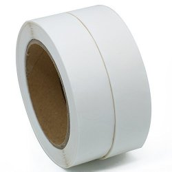 """Hybsk Tm Clear Retail Package Seals 1"""" Round Circle Wafer Stickers labels 1 000 Per Roll 2 Roll"""