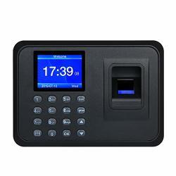 "Decdeal Biometric Fingerprint Attendance Machine 2.4"" Tft Lcd Display USB Employee Checking-in Reader Time Clock Recorder"