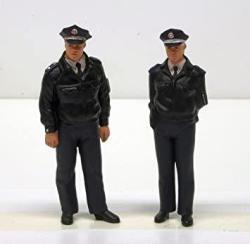 USA Preiser 44909 Standing Police Officers. Blue Uniform. Frg Police Men