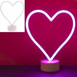 Lesser & Pavey Heart Pink Neon Lamp