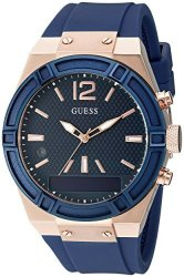 Guess Women&apos S Connect Smartwatch With Amazon Alexa And Silicone Strap Buckle - Ios And Android Compa