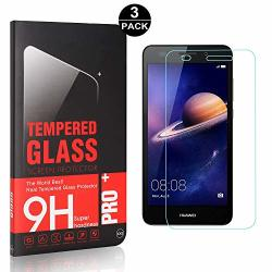 Bear Village Huawei Y3 2017 Premium Tempered Glass Screen Protector Ultra Clear Bubble Free Screen Protector Film For Huawei Y3