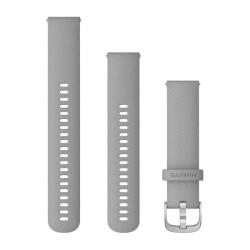 Garmin Quick Release Band Powder Grey Silicone Silver Buckle 20MM