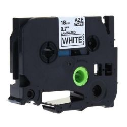 Brother Tz 241 Label Tape Laminated 18MM Blk wht 8M - Compatible