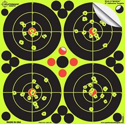 Splatterburst Targets - 6 Inch Adhesive Stick & Splatter Reactive Shooting Targets - Gun - Rifle - Pistol - Airsoft - Bb Gun