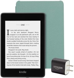 Amazon Kindle Paperwhite Bundle Including Kindle Paperwhite Sage Leather Cover