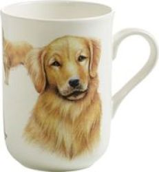 Maxwell & Williams Cashmere Pets Dog Gold Retro Mug 300ML