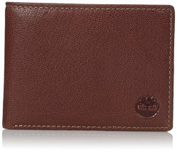 Timberland Men's Genuine Leather Rfid Blocking Passcase Security Wallet Brown One Size