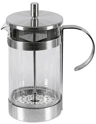 MY Basics - Germany Stainless Steel 12 Cup - 6 Mug 51 Oz Elegantly Designed Heat Resistant Glass French Coffee Press And Espresso Maker