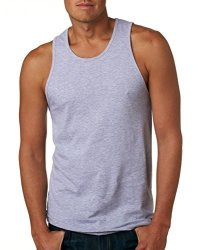 Next Level 3633 Premium Jersey Tank Heather Grey XL