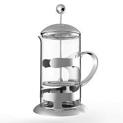 Homdox 1000ML Coffee Maker French Press 2 In 1 Stainless Steel Filter Aromatic Espresso Tea Maker 8 Cups Of Coffee 34 Oz