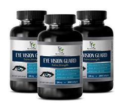 Eye Vitamins With Lutein & Zeaxanthin - Eye Vision Guard Extra Strength Dietary Supplement - Bilberry Pills For Eyes - 3 Bottles 600 Softgels