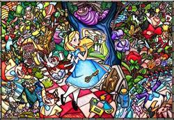 """5D Diamond Painting Full Drill Alice In Wonderland Diy Diamond Painting By Number Kits Rhinestone Crystal Drawing Gift For Adults Kids 20""""X16"""" Embroidery Dotz"""