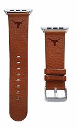 Affinity Bands Of Texas At Austin Longhorns Top Grain Oil Tanned Leather Band Compatible With The Smartwatches - Available In Three Leather Colors