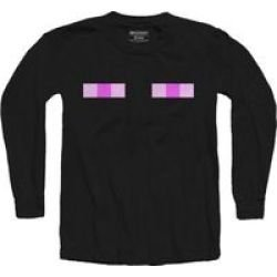 MINECRAFT - Enderman Youth Long Sleeve Shirt - Black 5-6 Years