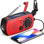 Solar Emergency Noaa Weather Radio Portable Hand Crank Shortwave Radio Am Fm Flashlight Sos Alert Cell Phone Charger 2300MAH Pow